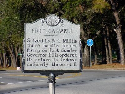 Fort Caswell Marker image. Click for full size.