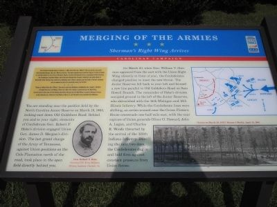 Merging of the Armies Civil War Trails Marker image. Click for full size.