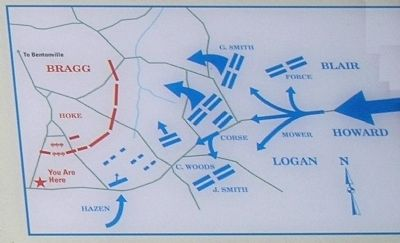 Bentonville Battle Map image. Click for full size.