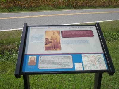 Confederate North Carolina Junior Reserve Line Marker image. Click for full size.