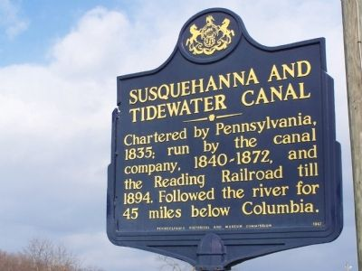 Susquehanna and Tidewater Canal Marker image. Click for full size.