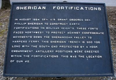 Sheridan Fortifications Marker image. Click for full size.