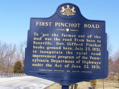 First Pinchot Road Marker image. Click for full size.