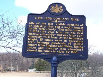 York Iron Company Mine Marker image. Click for full size.