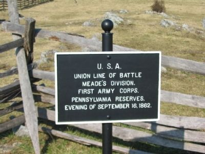 Union Line of Battle Marker image. Click for full size.
