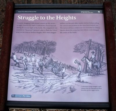 Struggle to the Heights Marker image. Click for full size.