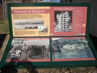 Welcome to Eastport Marker image. Click for full size.
