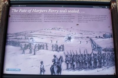 <i>The Fate of Harpers Ferry was sealed</i> Marker image. Click for full size.