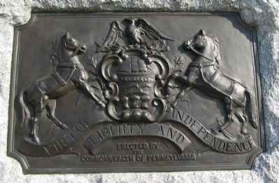 State Crest on the Right Side of Monument image. Click for full size.