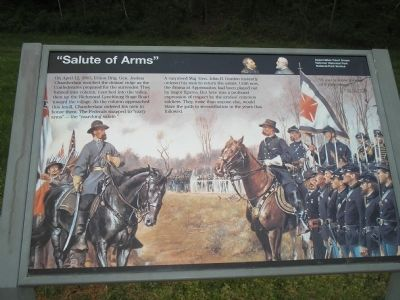 """Salute of Arms"" Marker image. Click for full size."