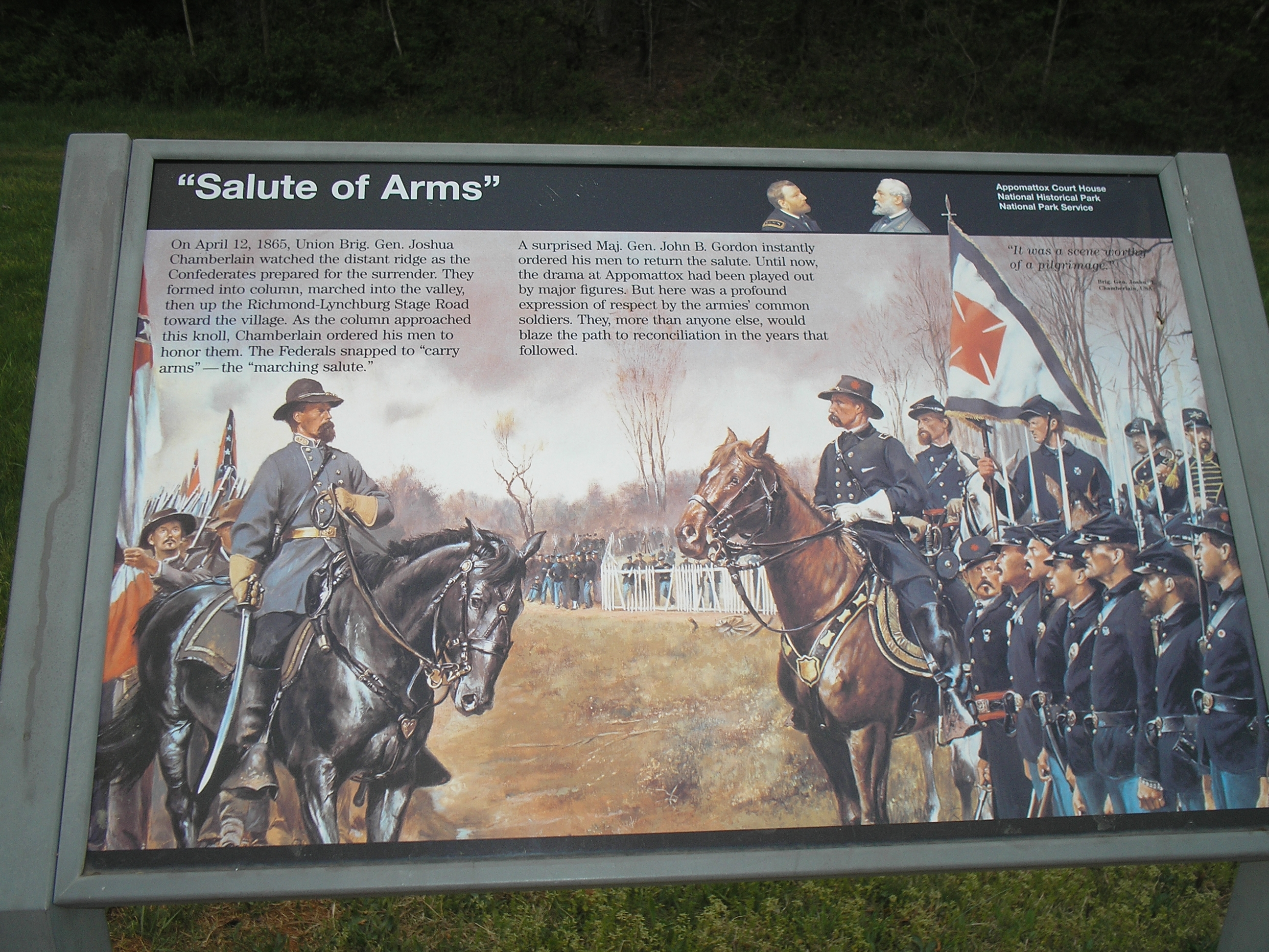 """Salute of Arms"" Marker"
