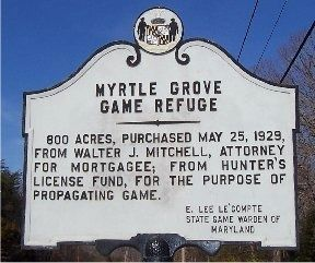 Myrtle Grove Game Refuge Marker image. Click for full size.