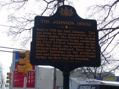 Johnson House Underground Railroad Station image. Click for full size.