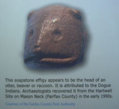 Soapstone Effigy closeup image. Click for full size.