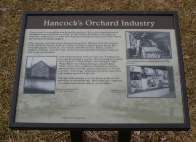 Hancock's Orchard Industry Marker image. Click for full size.
