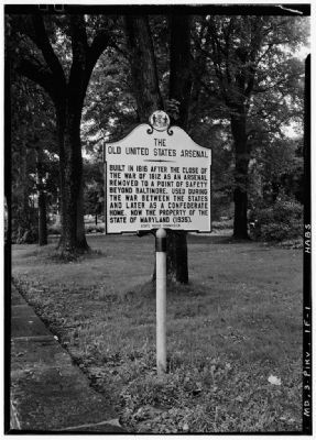 Marker, in 1936 image. Click for full size.