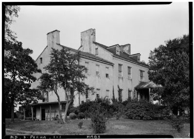 Perry Hall in 1936 image. Click for full size.