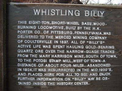 Whistling Billy Marker image. Click for full size.