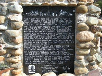 Bagby Marker image. Click for full size.