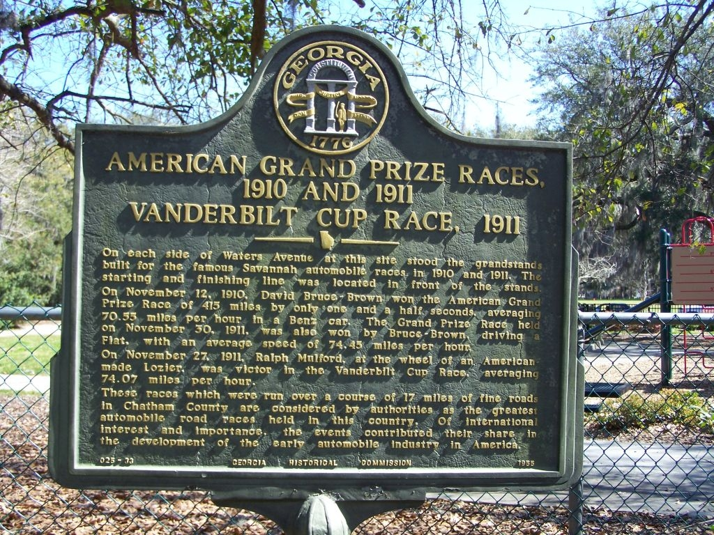 American Grand Prize Races, 1910 and 1911, Vanderbilt Cup Race, 1911 Marker