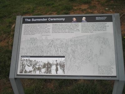 The Surrender Ceremony Marker image. Click for full size.