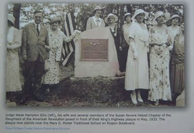 Picture of this marker's dedication in 1933. image. Click for more information.