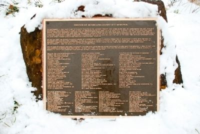 Friends of Monmouth County 9/11 Memorial Plaque image. Click for full size.