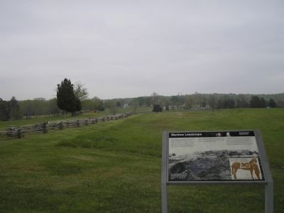 Marker with the village of Appomattox Court House in background image. Click for full size.