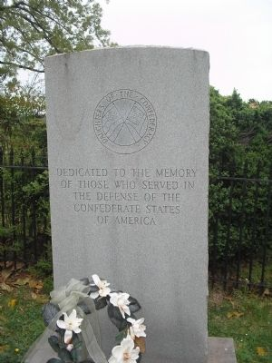 DOC Monument in the Confederate Cemetery image. Click for full size.