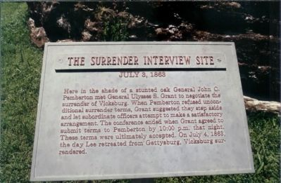 The Surrender Interview Site Marker image. Click for full size.