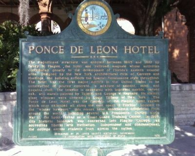 Ponce de Leon Hotel Marker image. Click for full size.