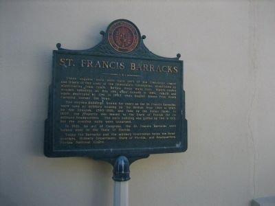 St. Francis Barracks Marker image. Click for full size.