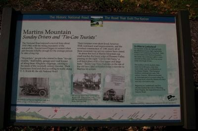 Martins Mountain Marker image. Click for full size.