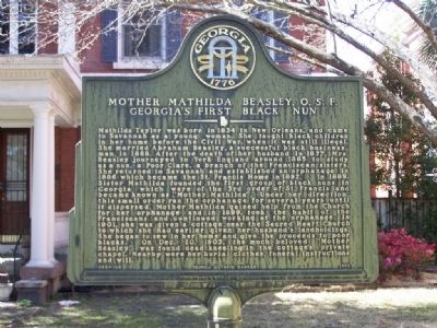 Mother Mathilda Beasley, O.S.F. Marker image. Click for full size.