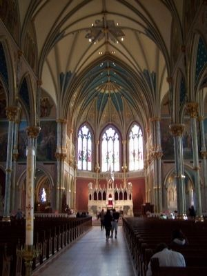 Altar view of St. John's image. Click for full size.