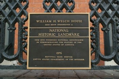 William H. Welch House Marker image. Click for full size.