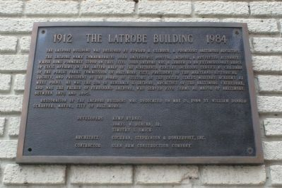 The Latrobe Building Marker image. Click for more information.