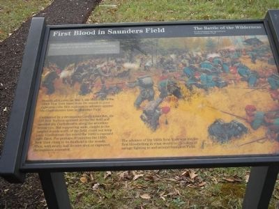 First Blood in Saunders Field Marker image. Click for full size.