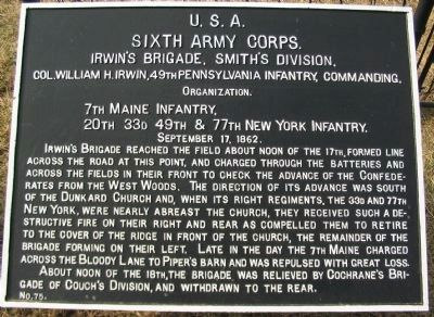 Sixth Army Corps Marker image. Click for full size.
