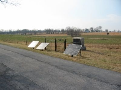 Three War Department Tablets and a First New Jersey Brigade Monument image. Click for full size.