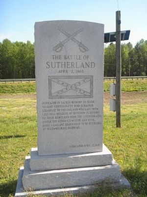 The Battle of Sutherland Monument image. Click for full size.