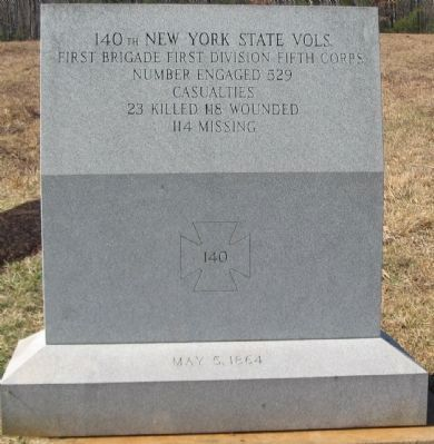 140th New York State Vols. Marker image. Click for full size.