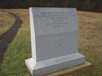 140th New York State Vols. Monument image. Click for full size.