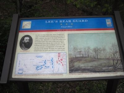 Lee's Rear Guard Marker image. Click for full size.