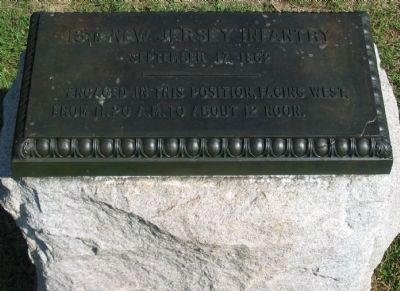 13th New Jersey Infantry Monument image. Click for full size.