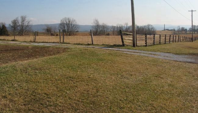 Looking South from the 19th Indiana Monument Location image. Click for full size.
