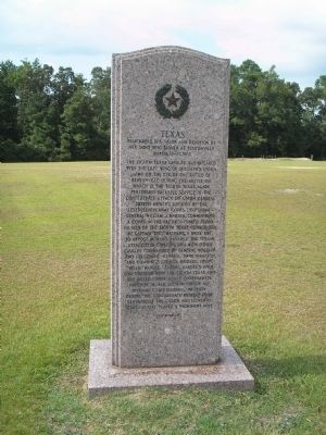 Texas State Monument image. Click for full size.