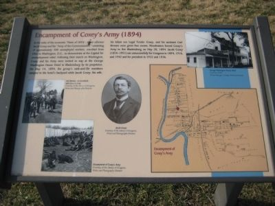 Encampment of Coxey's Army (1894) Marker image. Click for full size.
