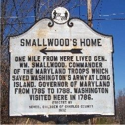 Smallwood's Home Marker image. Click for full size.