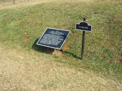Battery C Tablet next to the sign for D.R. Miller's House image. Click for full size.